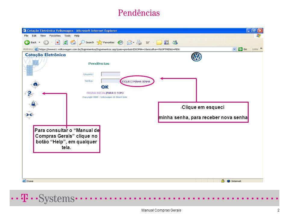 Manual Compras Gerais33 Impressão de Pedido de Compras Clique sobre o número do pedido para visualizá-lo.