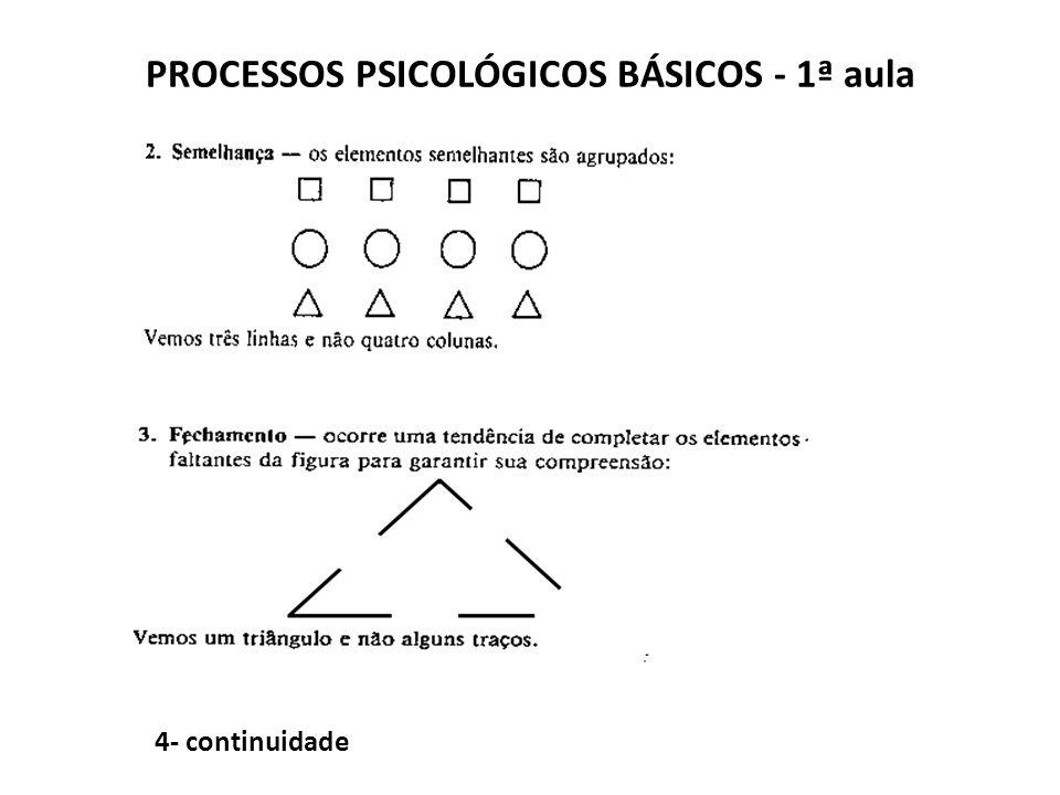 PROCESSOS PSICOLÓGICOS BÁSICOS - 1ª aula 4- continuidade