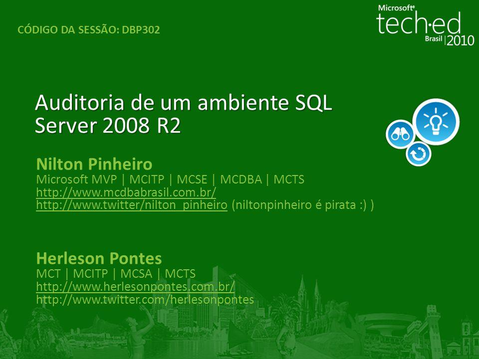Nilton Pinheiro Microsoft MVP | MCITP | MCSE | MCDBA | MCTS http://www.mcdbabrasil.com.br/ http://www.twitter/nilton_pinheirohttp://www.twitter/nilton
