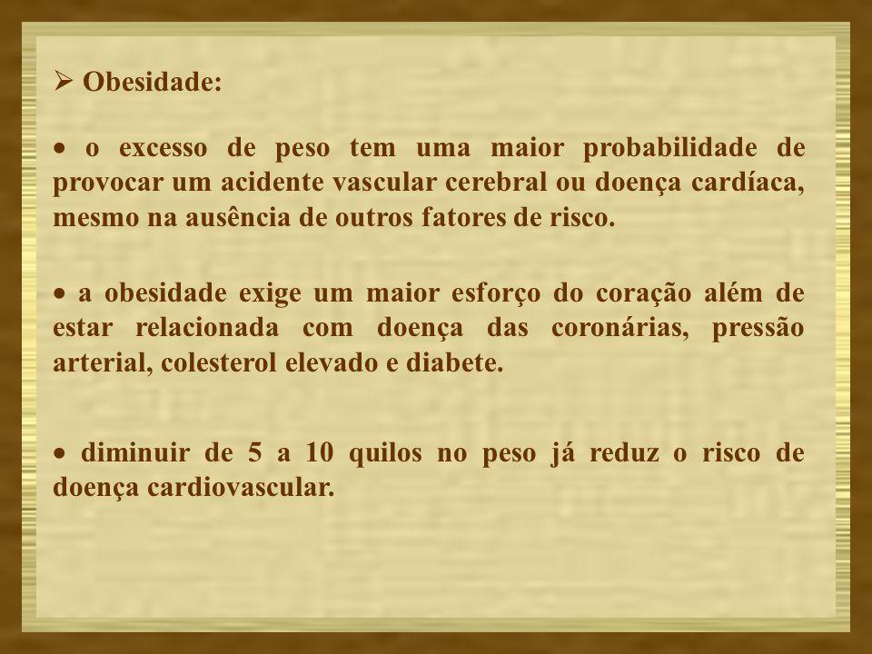 Obesidade: o excesso de peso tem uma maior probabilidade de provocar um acidente vascular cerebral ou doença cardíaca, mesmo na ausência de outros fat