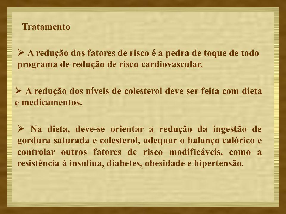 Tratamento A redução dos fatores de risco é a pedra de toque de todo programa de redução de risco cardiovascular. A redução dos níveis de colesterol d
