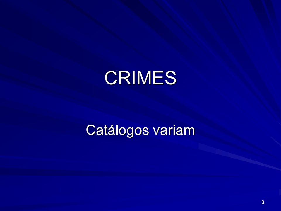 CRIMES Catálogos variam 3