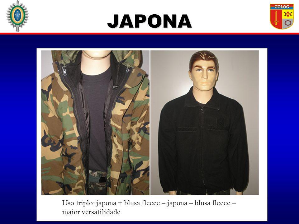 JAPONA Uso triplo: japona + blusa fleece – japona – blusa fleece = maior versatilidade