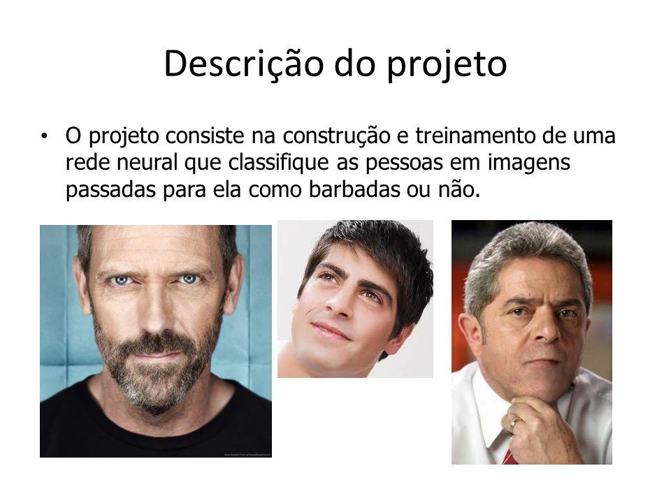 Descrição do projeto O projeto consiste na construção e treinamento de uma rede neural que classifique as pessoas em imagens passadas para ela como barbadas ou não.