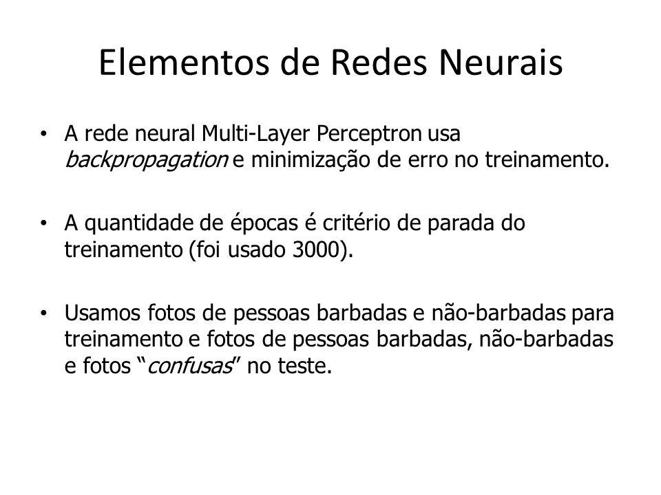 Elementos de Redes Neurais Rede neural usada para classificação.