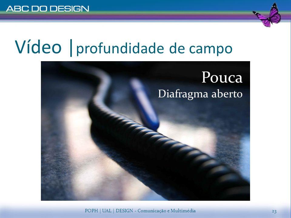 Vídeo   profundidade de campo POPH   UAL   DESIGN - Comunicação e Multimédia Pouca Diafragma aberto 23