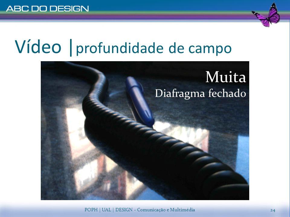 Vídeo   profundidade de campo POPH   UAL   DESIGN - Comunicação e Multimédia Pouca Diafragma aberto Muita Diafragma fechado 24