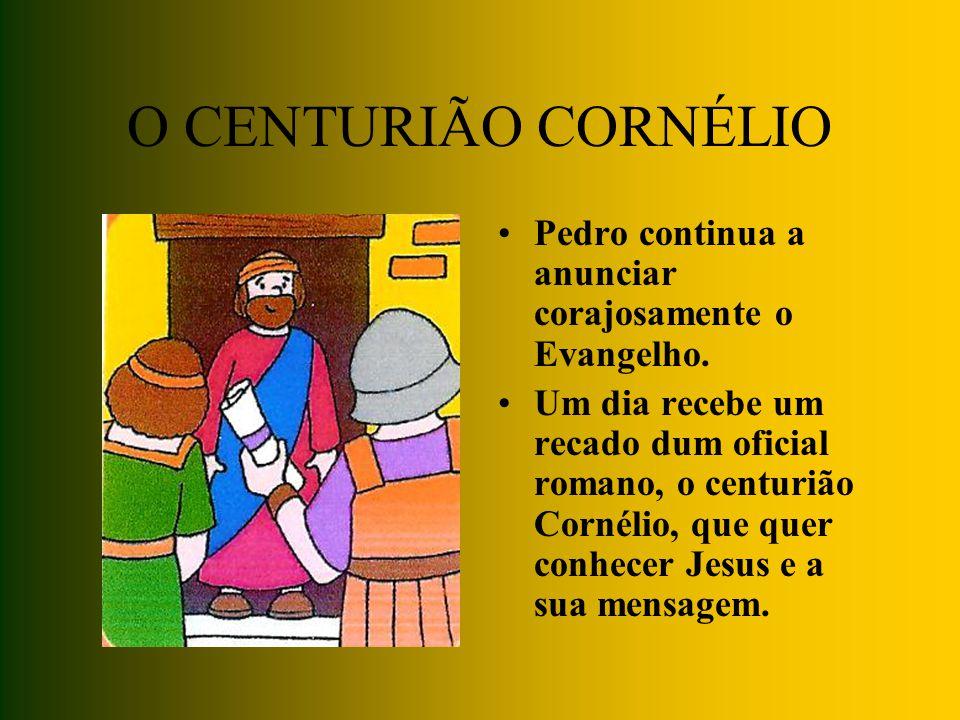 PEDRO É PRESO Os amigos de Jesus são cada vez mais. Os chefes dos sacerdotes, zangados, mandam prender Pedro. Mas Deus envia um anjo para o libertar!