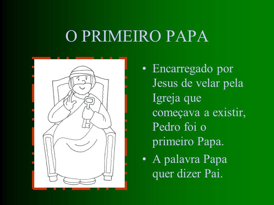 A BASÍLICA DE S. PEDRO Em Roma, Pedro é preso e condenado a morrer numa cruz, como Jesus. Mais tarde veio a ser construída sobre o seu túmulo uma igre