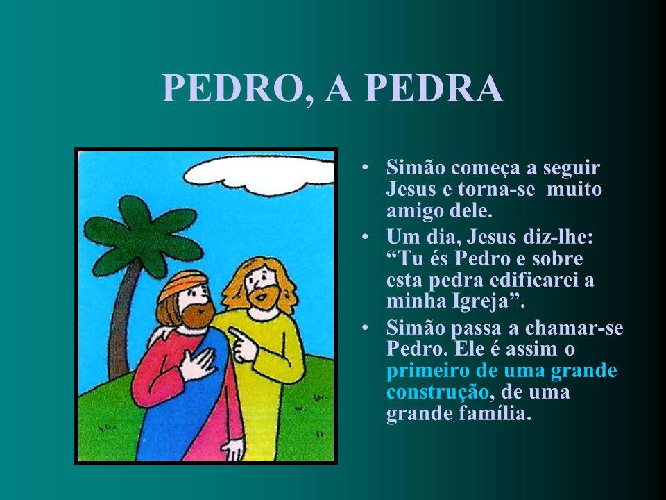 UMA PESCA MILAGROSA Simão pensa para si: Não vale a pena… Mas faz como Jesus diz. Milagrosamente, as redes enchem-se de peixes!