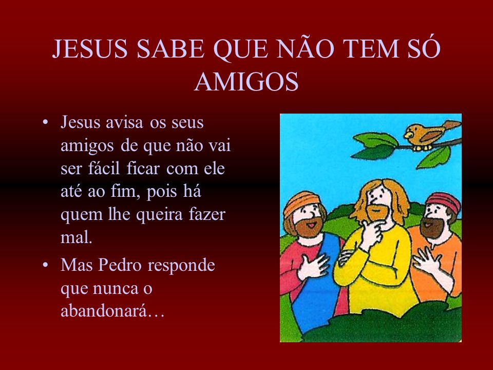 PEDRO, A PEDRA Simão começa a seguir Jesus e torna-se muito amigo dele. Um dia, Jesus diz-lhe: Tu és Pedro e sobre esta pedra edificarei a minha Igrej