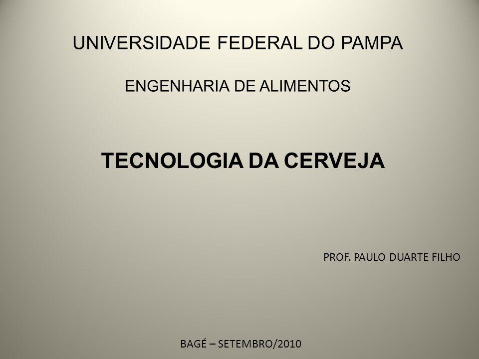 TECNOLOGIA DA CERVEJA PROF. PAULO DUARTE FILHO BAGÉ – SETEMBRO/2010 UNIVERSIDADE FEDERAL DO PAMPA ENGENHARIA DE ALIMENTOS