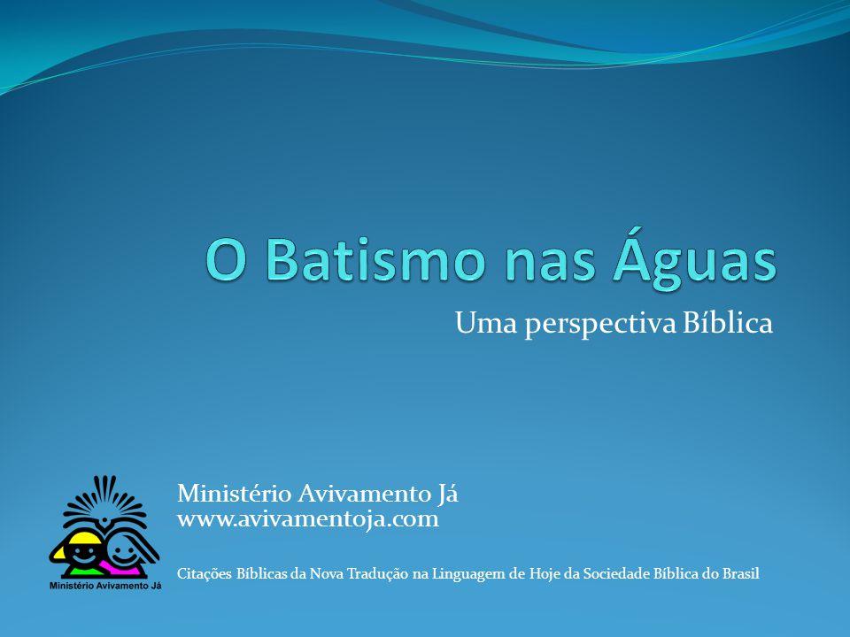 Uma perspectiva Bíblica Ministério Avivamento Já www.avivamentoja.com Citações Bíblicas da Nova Tradução na Linguagem de Hoje da Sociedade Bíblica do Brasil