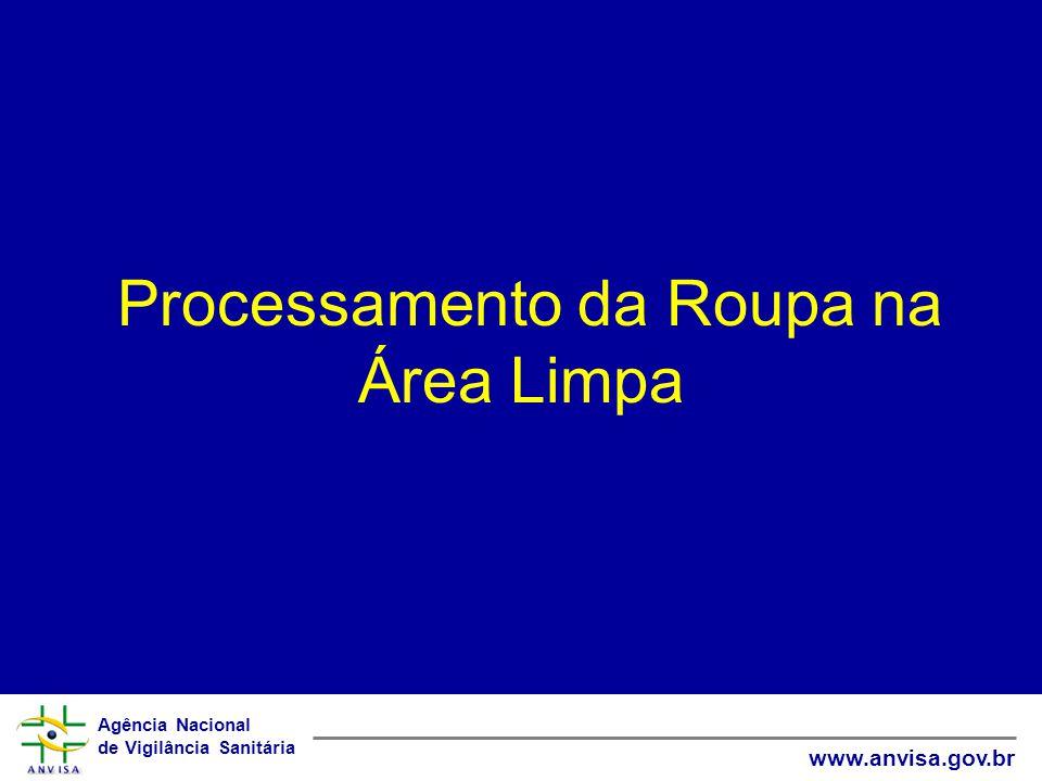 Agência Nacional de Vigilância Sanitária www.anvisa.gov.br Processamento da Roupa na Área Limpa