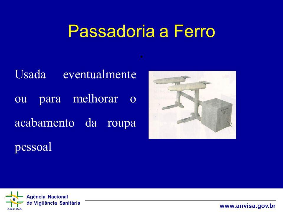Agência Nacional de Vigilância Sanitária www.anvisa.gov.br Passadoria a Ferro.