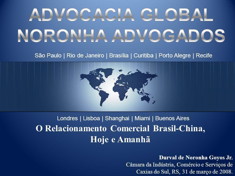 Fonte: Banco Central do Brasil AnoTotal 200128,08 20029,74 200315,51 20044,35 20057,56 20066,65 200724,30 US$ Milhões Fundamentos Econômicos Investimentos Diretos da China no Brasil