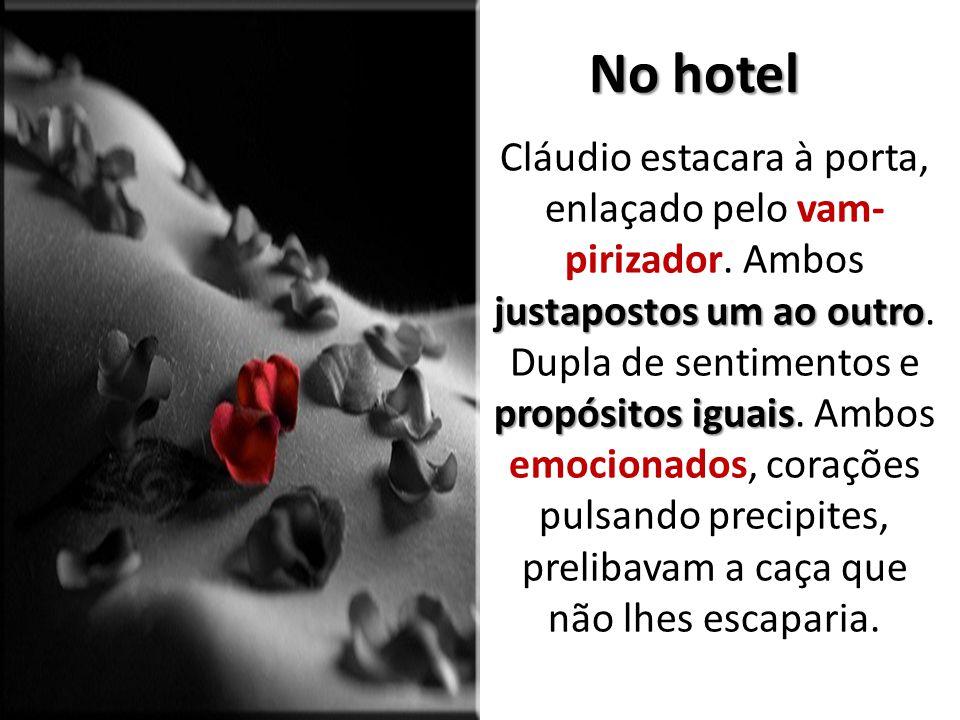 No hotel justapostos um ao outro propósitos iguais Cláudio estacara à porta, enlaçado pelo vam pirizador. Ambos justapostos um ao outro. Dupla de sen