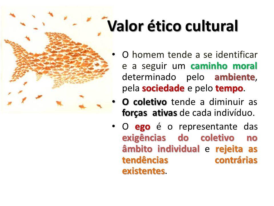 Valor ético cultural caminho moral ambiente sociedadetempo O homem tende a se identificar e a seguir um caminho moral determinado pelo ambiente, pela