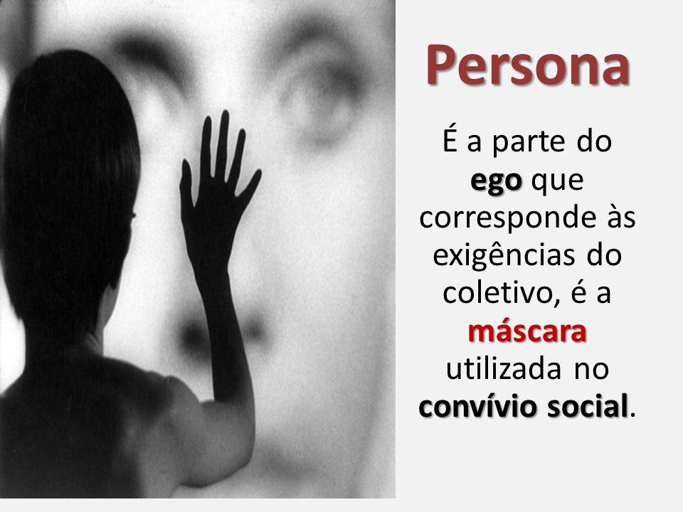 Persona ego máscara convívio social É a parte do ego que corresponde às exigências do coletivo, é a máscara utilizada no convívio social.