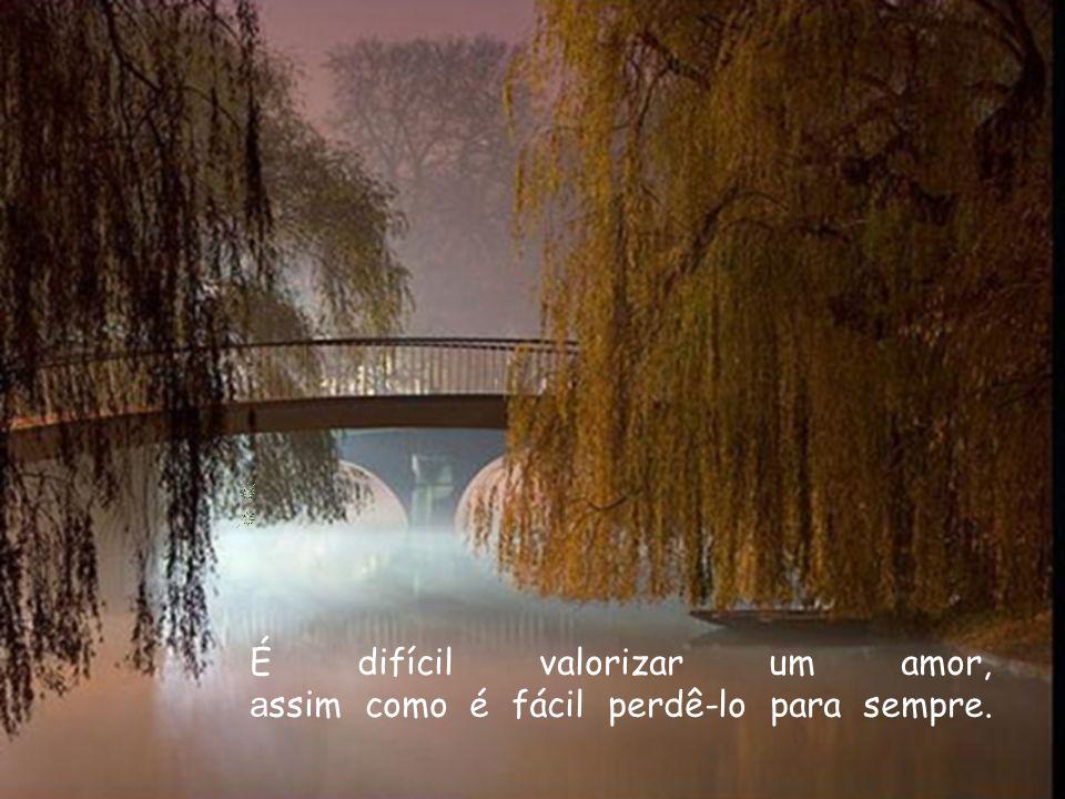 É difícil valorizar um amor, a ssim como é fácil perdê-lo para sempre.