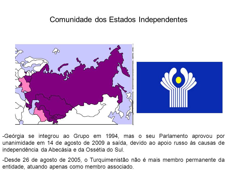 Comunidade dos Estados Independentes -Geórgia se integrou ao Grupo em 1994, mas o seu Parlamento aprovou por unanimidade em 14 de agosto de 2009 a saí