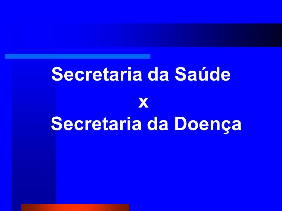 Secretaria da Saúde x Secretaria da Doença