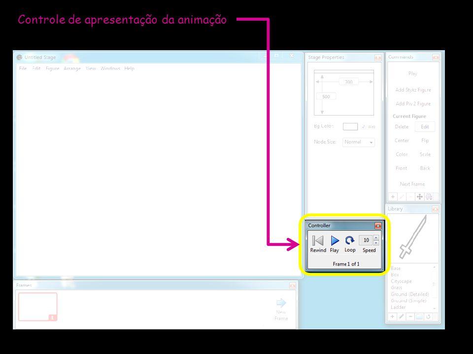 Controle de apresentação da animação