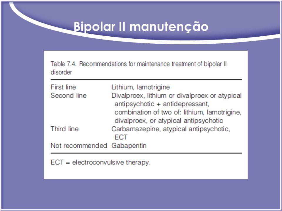Bipolar II manutenção