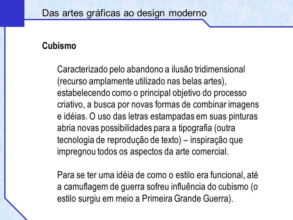 Cubismo Das artes gráficas ao design moderno