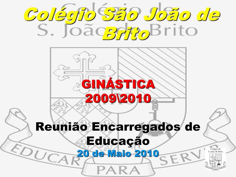GINÁSTICA 2009\2010 Reunião Encarregados de Educação 20 de Maio 2010 Colégio São João de Brito