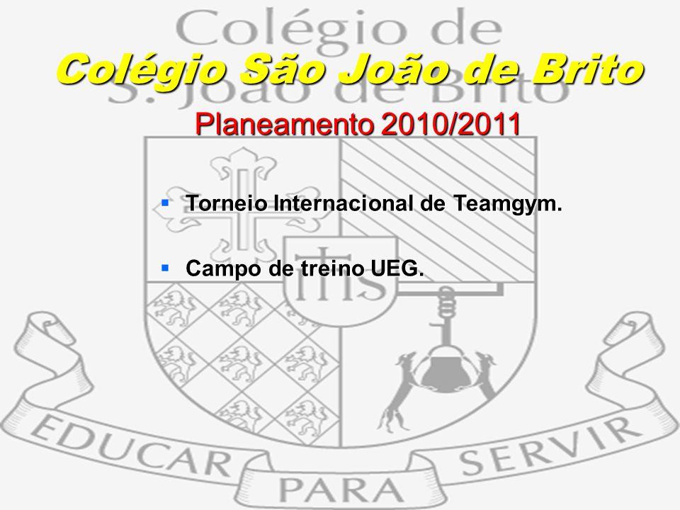14 Planeamento 2010/2011 Planeamento 2010/2011 Torneio Internacional de Teamgym. Torneio Internacional de Teamgym. Campo de treino UEG. Campo de trein