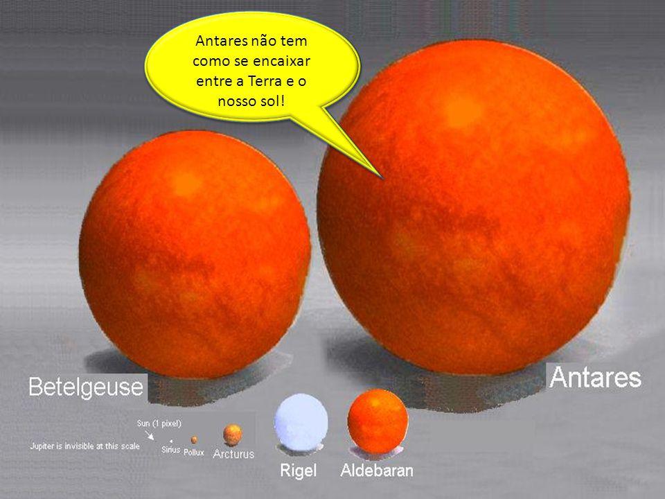 Universe 5 Antares não tem como se encaixar entre a Terra e o nosso sol!