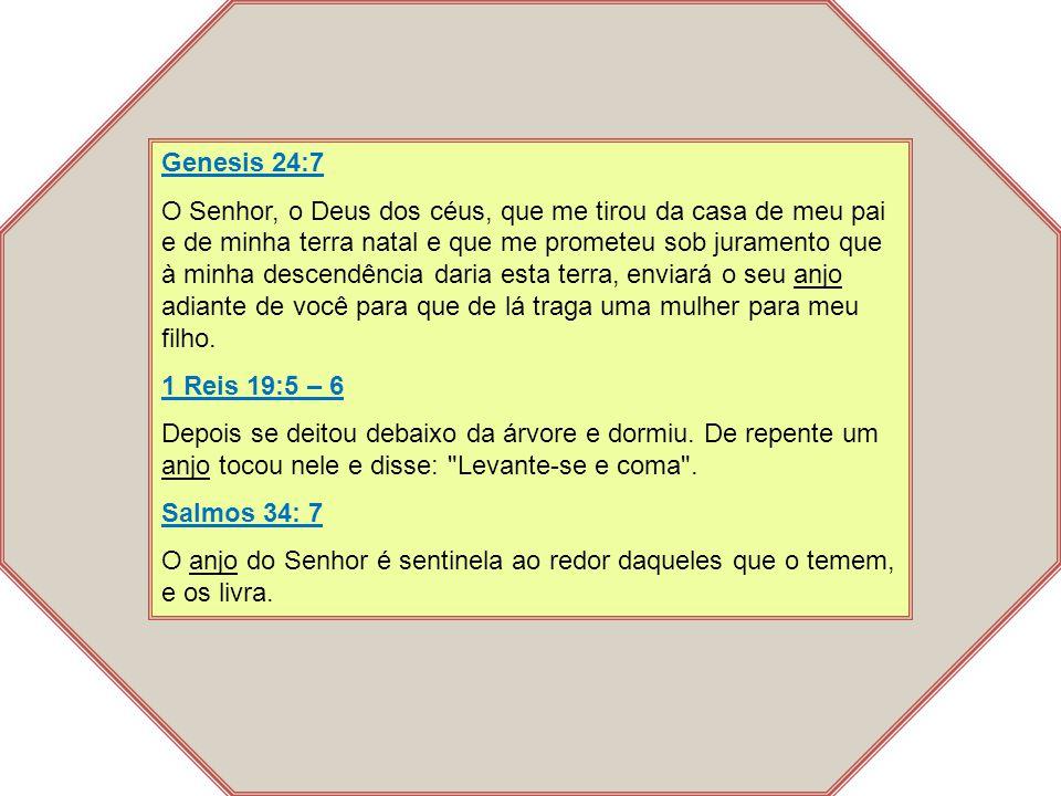Genesis 24:7 O Senhor, o Deus dos céus, que me tirou da casa de meu pai e de minha terra natal e que me prometeu sob juramento que à minha descendênci