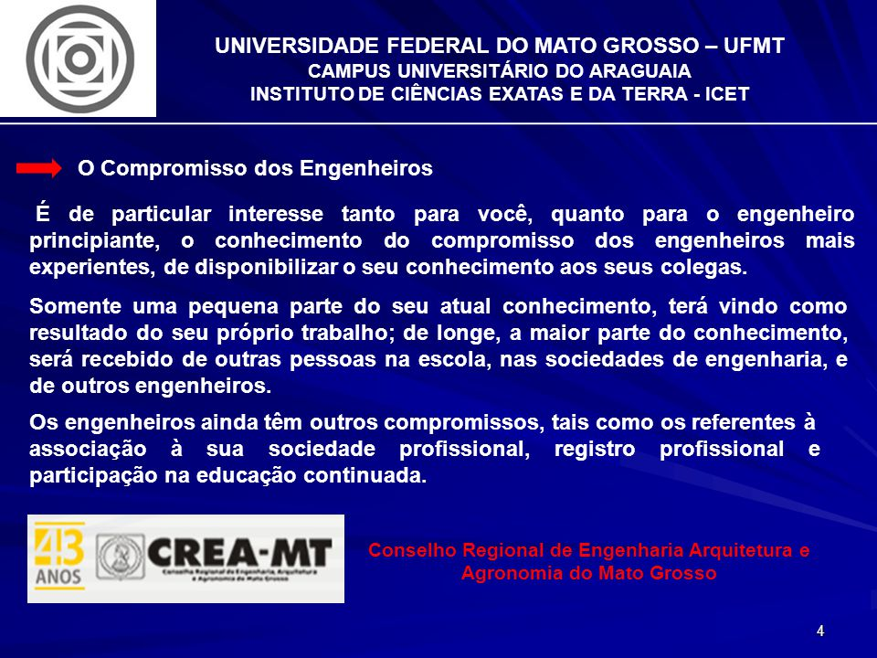 15 UNIVERSIDADE FEDERAL DO MATO GROSSO – UFMT CAMPUS UNIVERSITÁRIO DO ARAGUAIA INSTITUTO DE CIÊNCIAS EXATAS E DA TERRA - ICET Aptidão para a Engenharia A aptidão implica na disposição para, ou a capacidade de trabalhar em um certo campo de conhecimento.