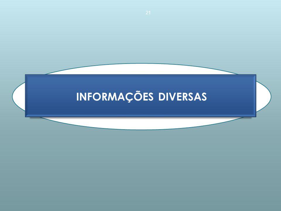 INFORMAÇÕES DIVERSAS 21