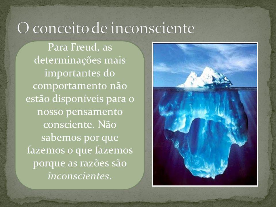Freud postulou três níveis de consciência e comparou a mente com um iceberg flutuando na água.