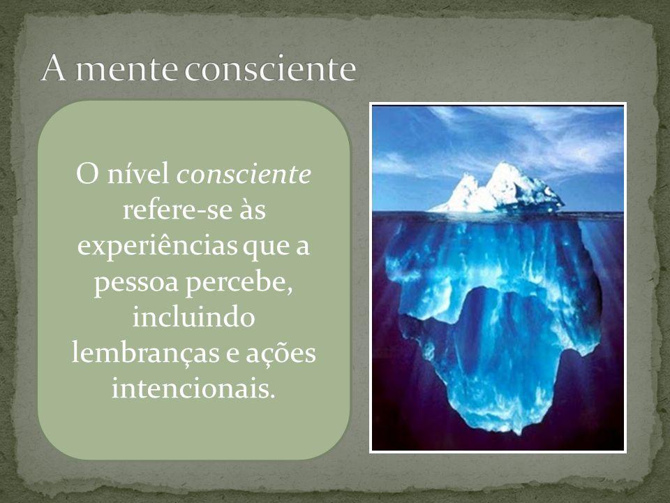 Sob a superfície da água, às vezes visível e às vezes submersa, está a mente pré- consciente.