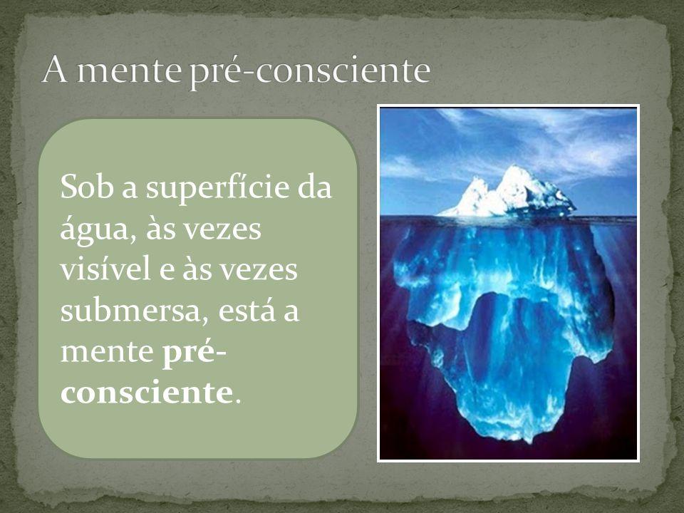Parte do material que não está consciente num determinado momento pode ser facilmente trazido para a consciência; esse material é chamado de pré-consciente.