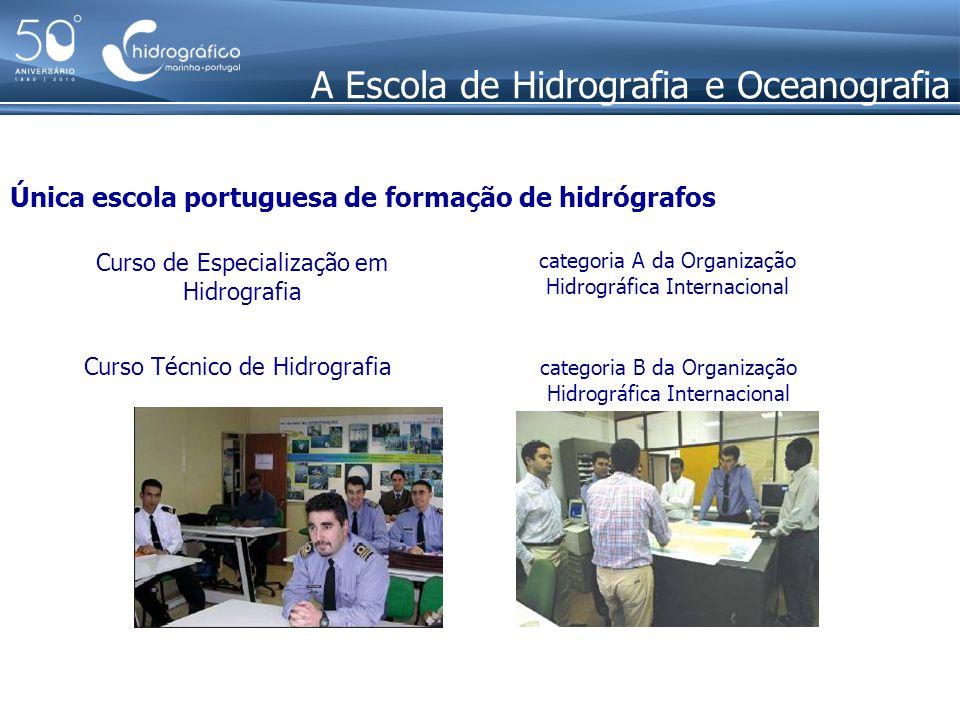A Escola de Hidrografia e Oceanografia Única escola portuguesa de formação de hidrógrafos categoria A da Organização Hidrográfica Internacional Curso