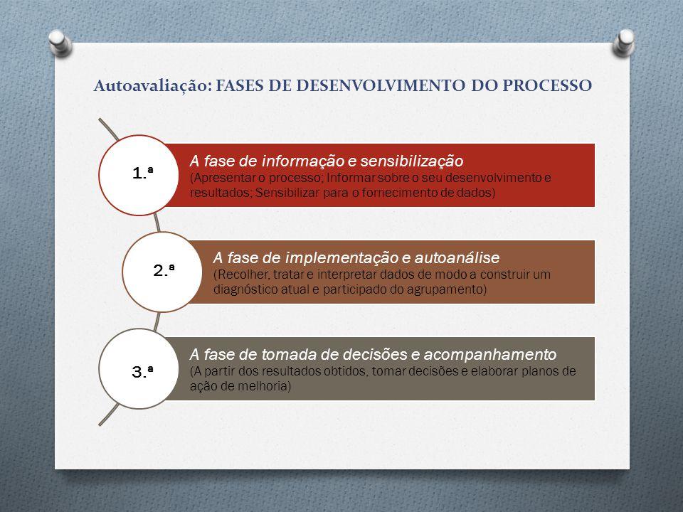 Autoavaliação: FASES DE DESENVOLVIMENTO DO PROCESSO 1.ª 2.ª 3.ª