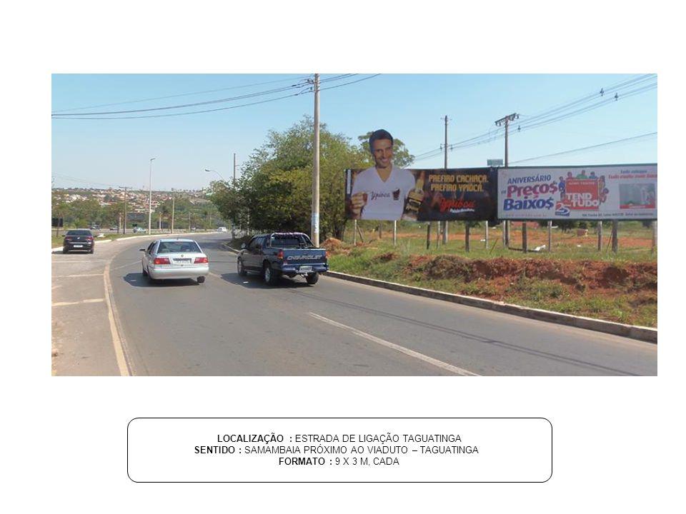 LOCALIZAÇÃO : SETOR DE MANSÕES MI 05 SENTIDO : PRÓXIMO AO GARDEN HOUSE - LAGO NORTE FORMATO : 9 X 3 M, CADA