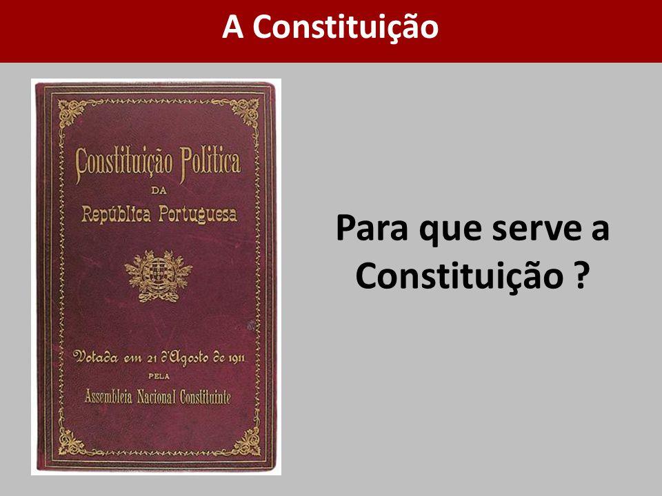 Para que serve a Constituição ? A Constituição