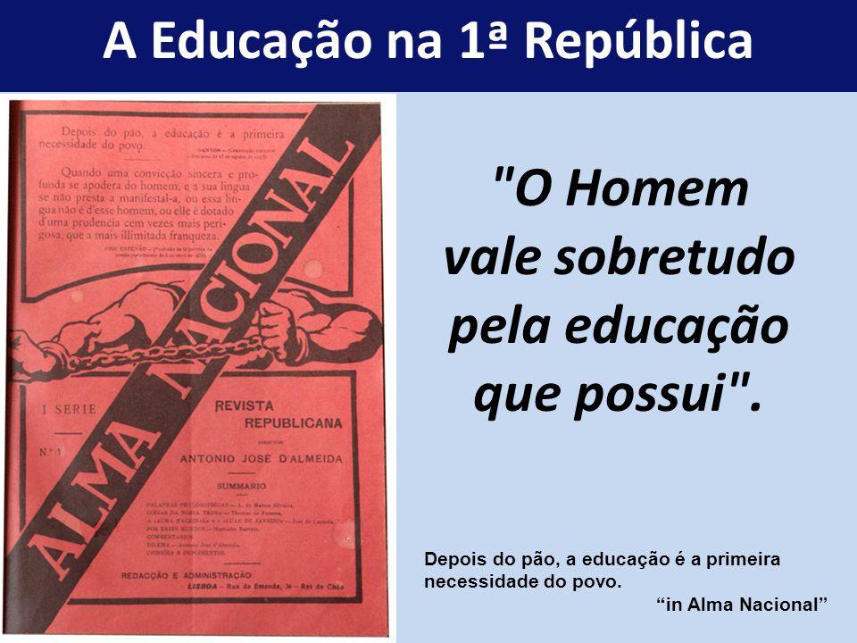 O Homem vale sobretudo pela educação que possui .