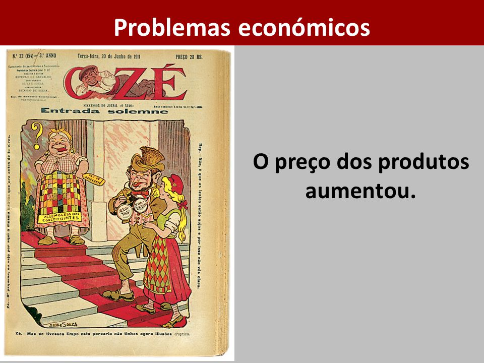 O preço dos produtos aumentou. Problemas económicos