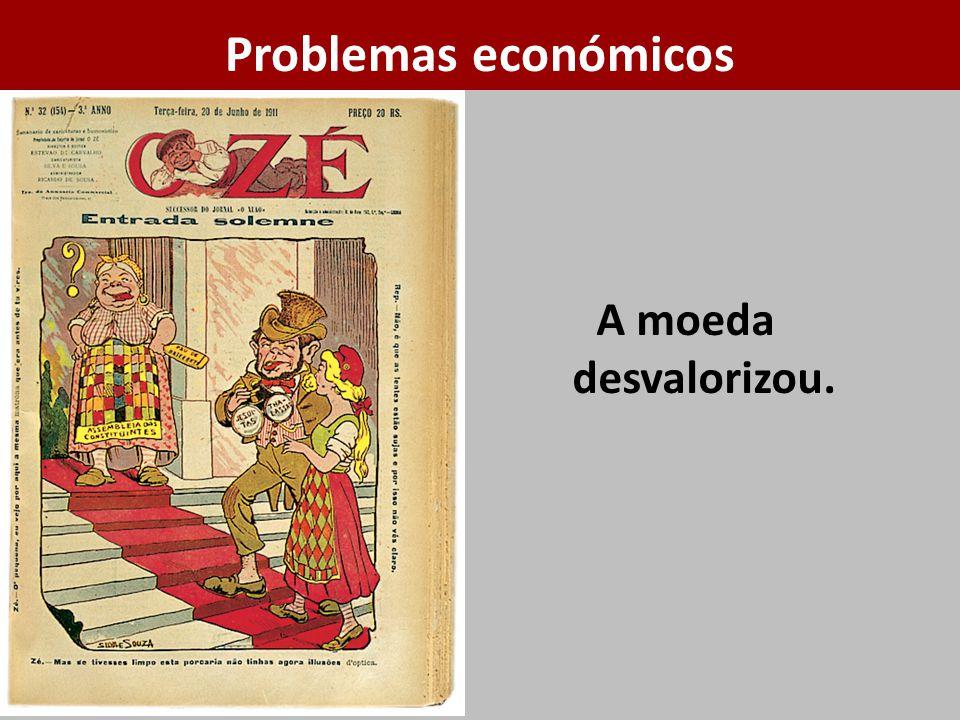 A moeda desvalorizou. Problemas económicos