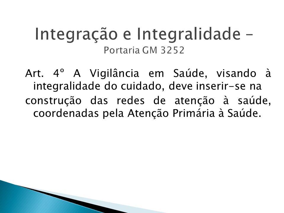 Integração e Integralidade – Portaria GM 3252 Art.
