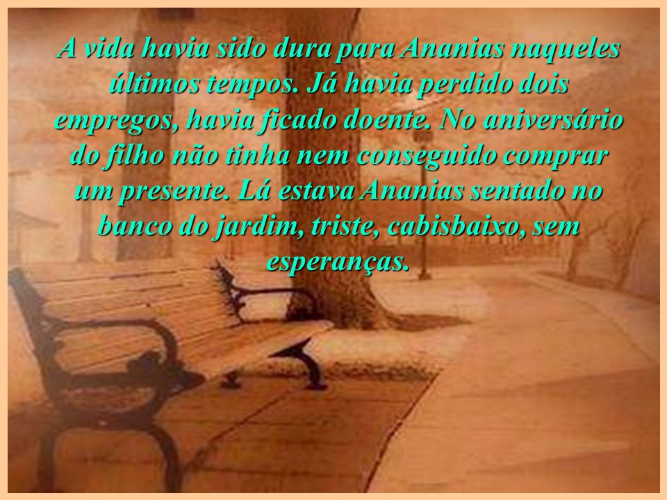 Colacio.j Um banco de jardim Texto: autor espiritual Pedro Humberto Psicografia: Irineu Idalgo Sanches Filho
