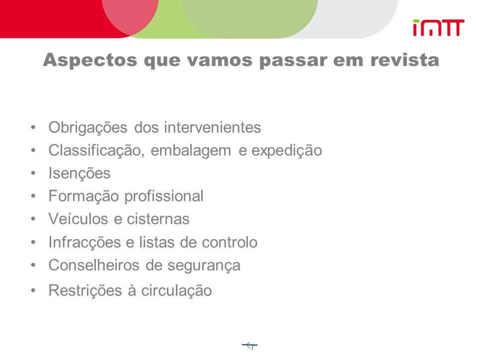 Critérios de classificação Mercadorias expressamente mencionadas no quadro A do cap.
