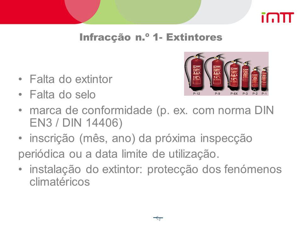 Infracções mais frequentes em Portugal Equipamento de bordo (36%) Documento de transporte (18%) Sinalização e etiquetas (18%) Falta de Certificado de