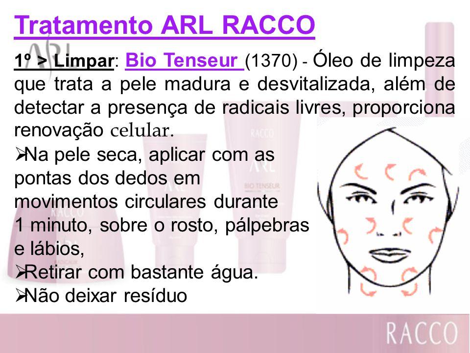 Tratamento ARL RACCO 1º > Limpar: Bio Tenseur (1370) - Óleo de limpeza que trata a pele madura e desvitalizada, além de detectar a presença de radicai